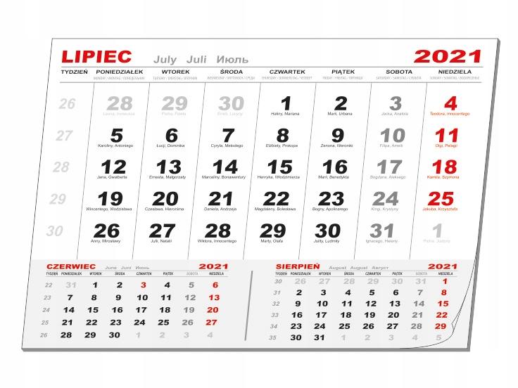 Kalendaria z okienkiem do Kal. 1-dzielnych 300szt