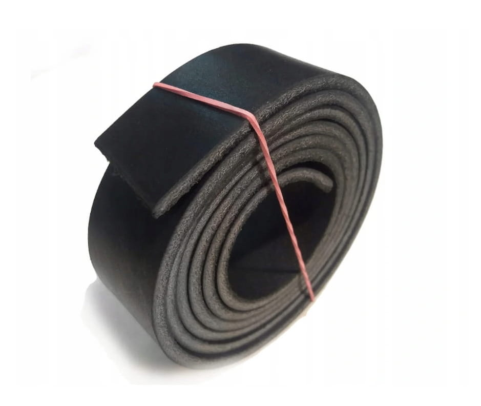 Pas skórzany czarny 3 mm 3,5x160cm P03