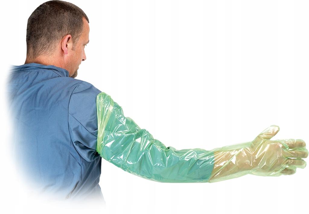 Rękawice rektalne inseminacyjne 100 szt. 95 cm