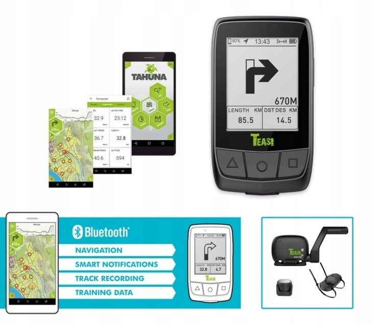 GPS TEASI Core nawigacja/komputer rowerowy