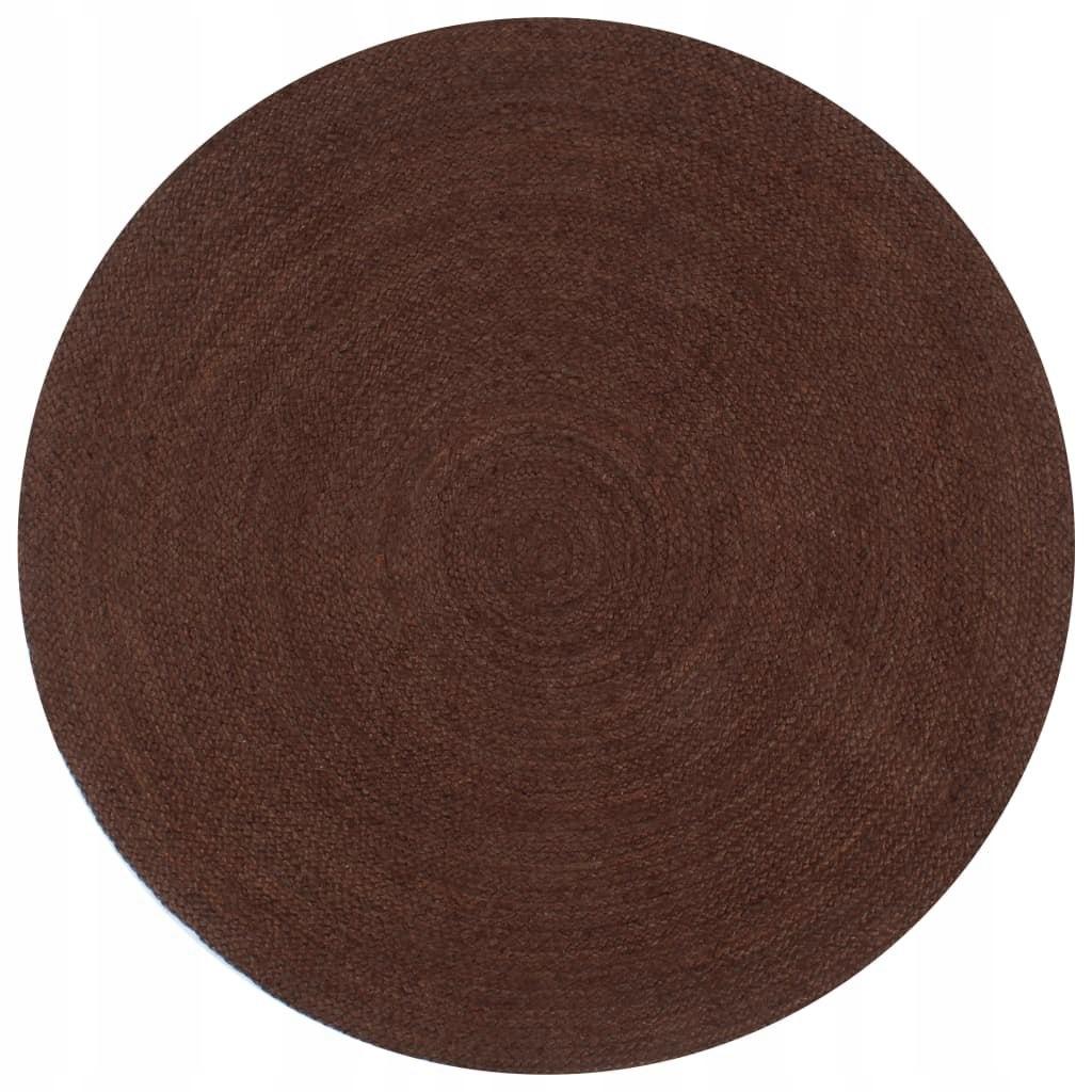 Ręcznie wykonany dywanik z juty, okrągły, 120 cm,