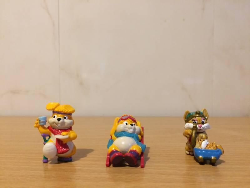 Figurki z Kinder Niespodzianka- królik, zając, kot