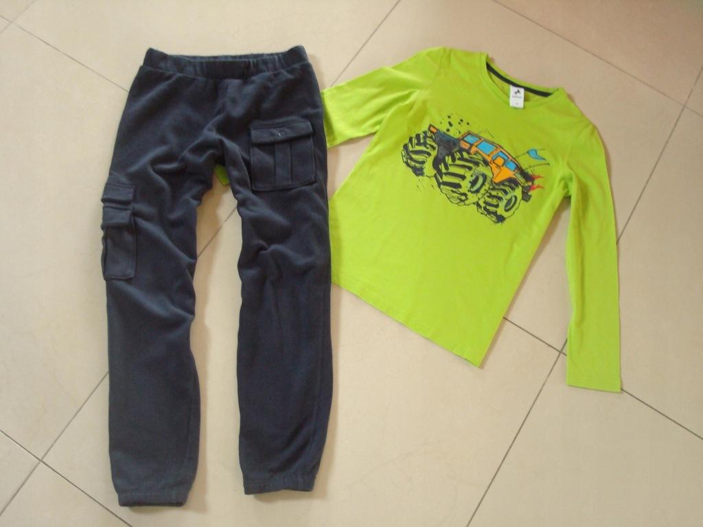 T-SHIRT C&A + spodnie TEZENIS CALZEDONIA r 140