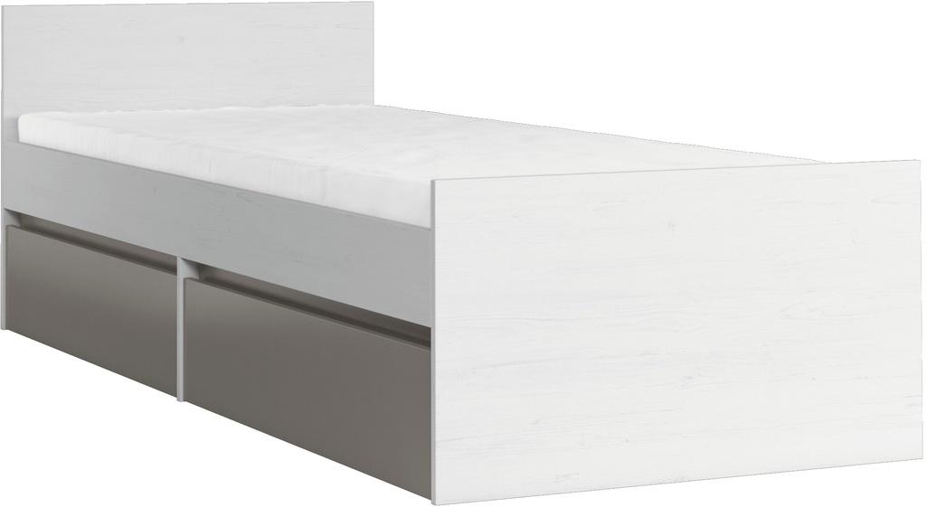 Łóżko MATI L1 młodzieżowe 90 cm stelaż szuflady