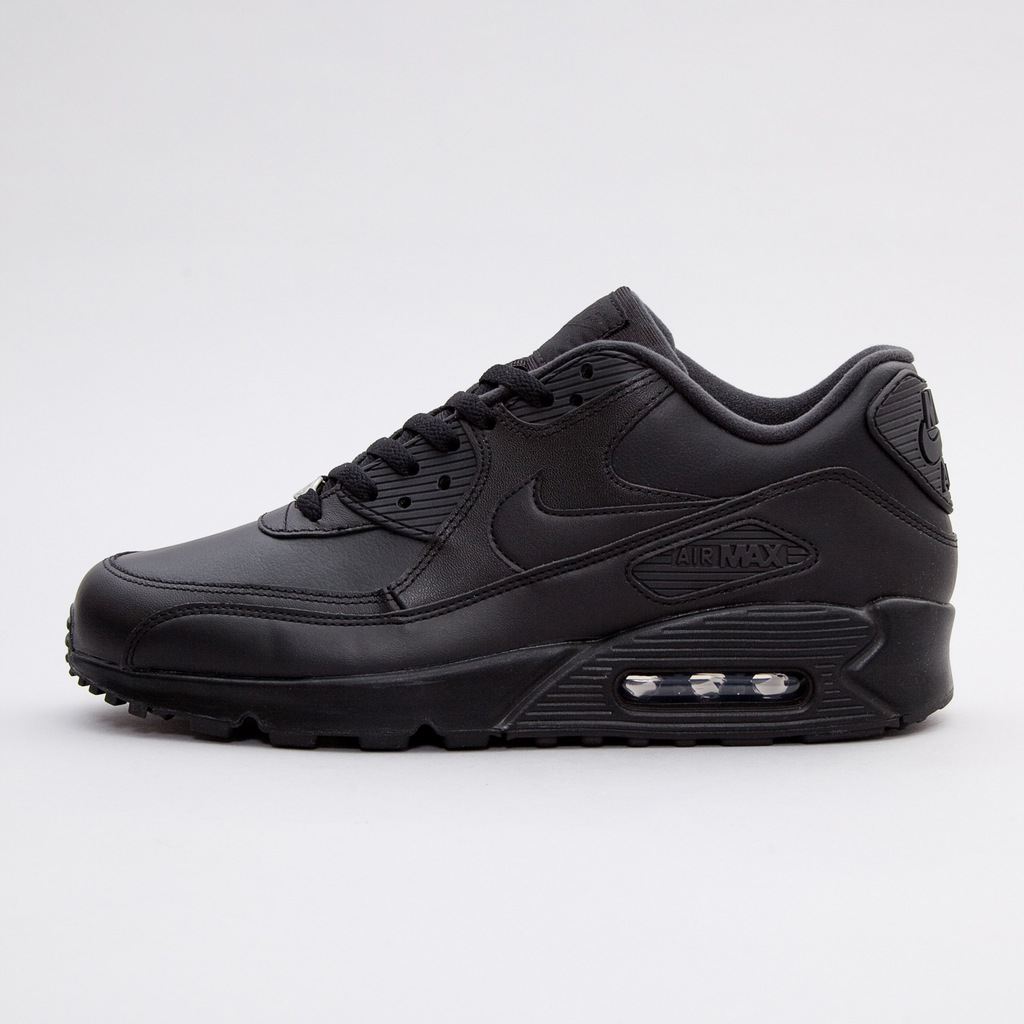 Buty męskie Nike Air Max 90 Leather All Black 302519 001