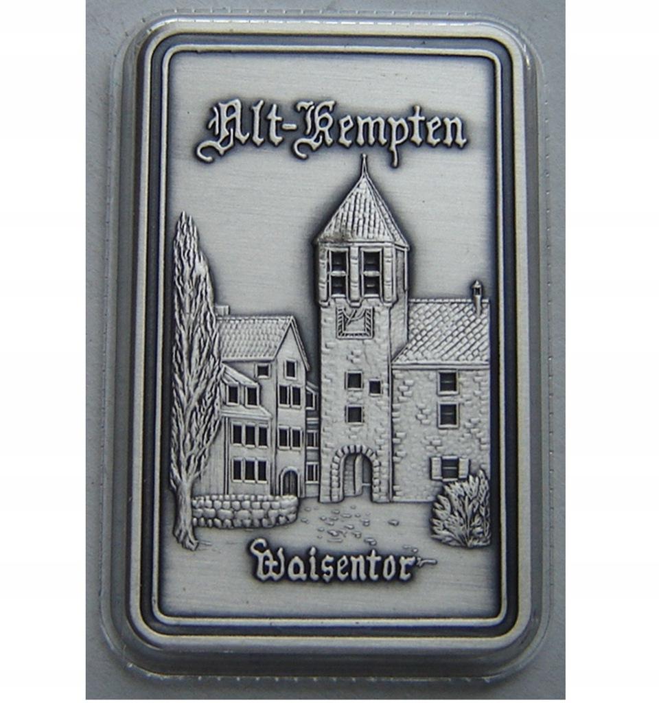 SZTABKA UNCJA Ag 999/1000 Niemcy 2000 Lat Kempten