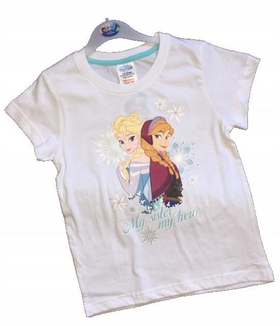 DISNEY śliczna bluzka t-shirt KRAINA LODU 7-8 lat