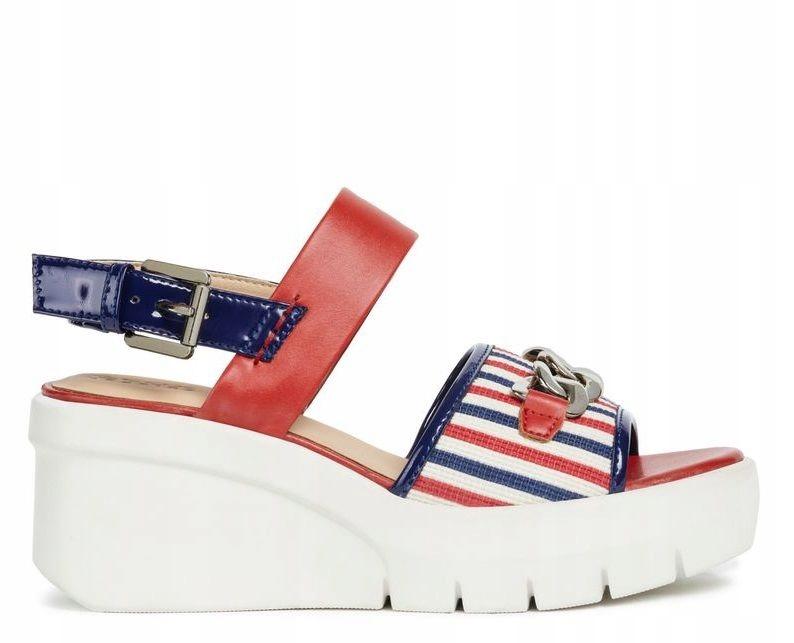 GEOX-Kolorowe Sandały Na Koturnie D92CPD R 40