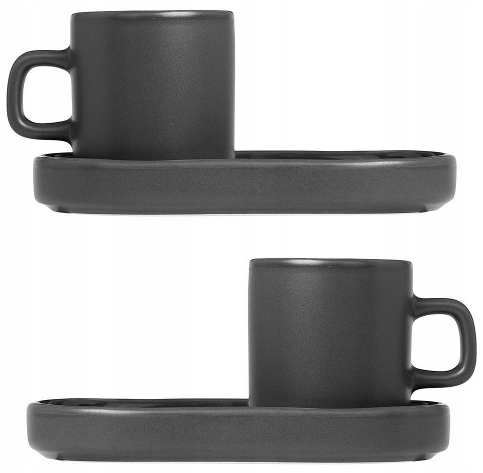 Blomus 2 filiżanki i spodki do espresso Mio Agave