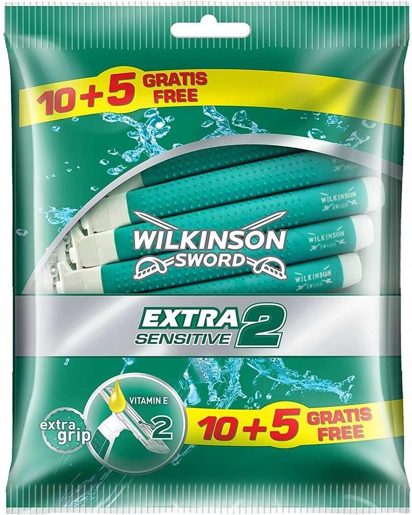Wilkinson Sword Extra 2 Sensitive, maszynka 15szt