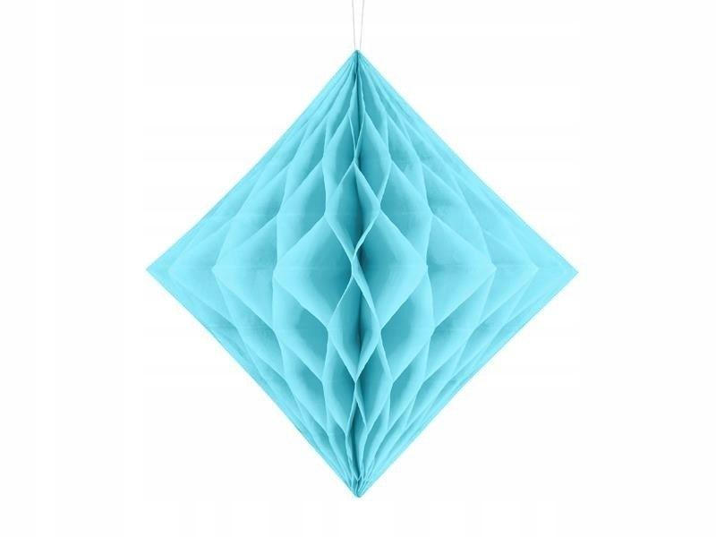 Diament bibułowy jasny błękit 20cm, 50 szt.
