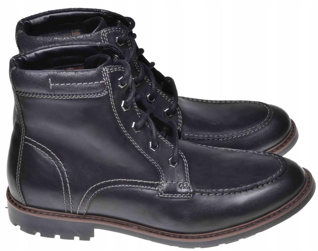 BOTKI CLARKS CURINGTON HIGH Black Leather 42,5