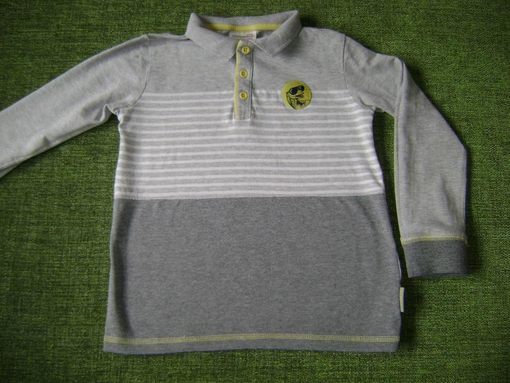 Coccodrillo r. 104 Bluzka Koszulka Niebieska Kolorowy Nadruk