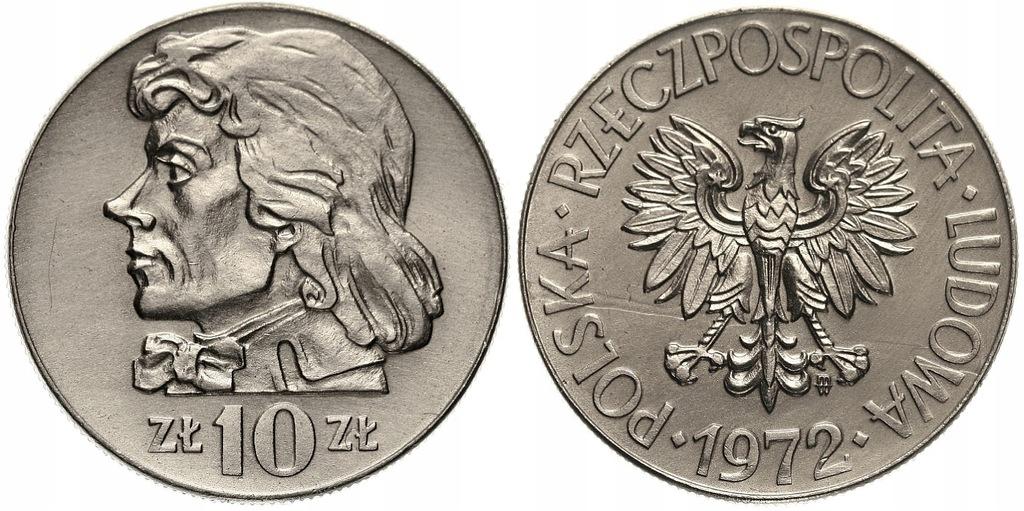 246.Polska -PRL -10 zł Kościuszko -1972 -St. 1- #A