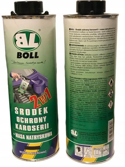 środek ochrony karoserii + masa natrysk 2w1 BOLL