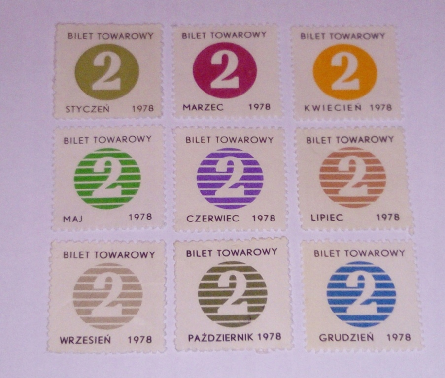 KARTKI NA CUKIER 1978r