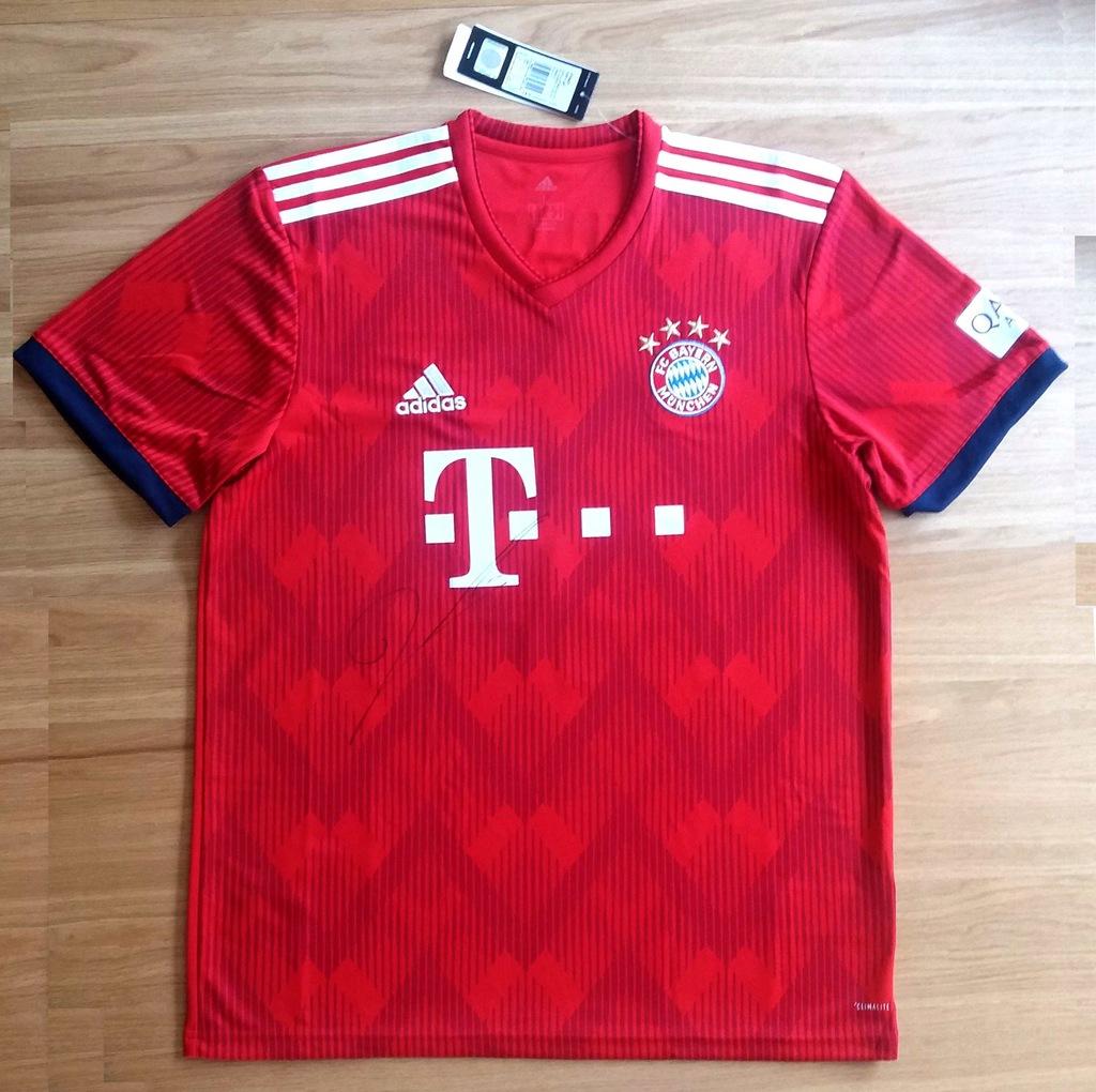 Koszulka Bayern Monachium podpis Lewandowskiego