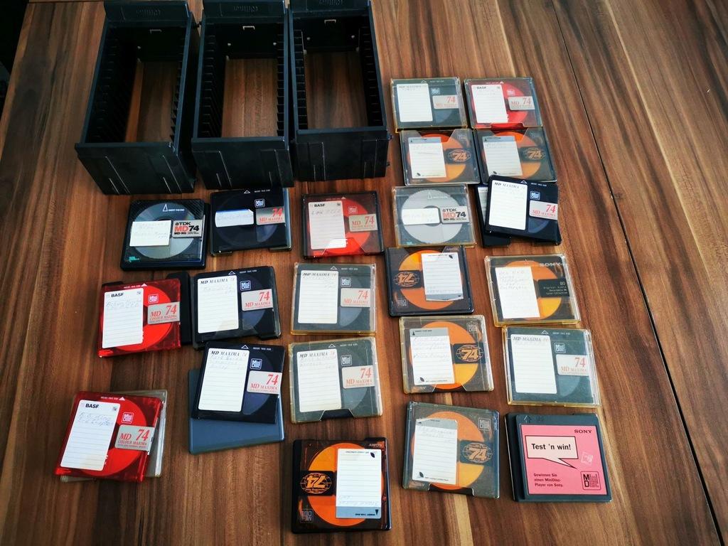 MD Mini Disc - zestaw 22 sztuk + gratis