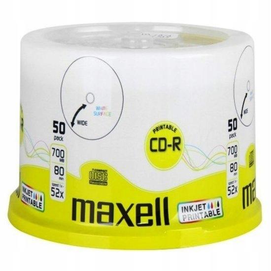 50X MAXELL PRINTABLE płyty CD-R 700MB 80MIN cake