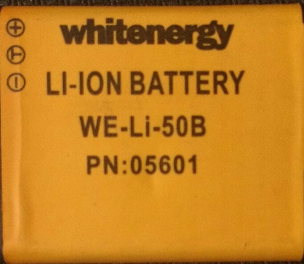 Bateria LI-50B do aparatu Whitenergy 3.7V 900mAh