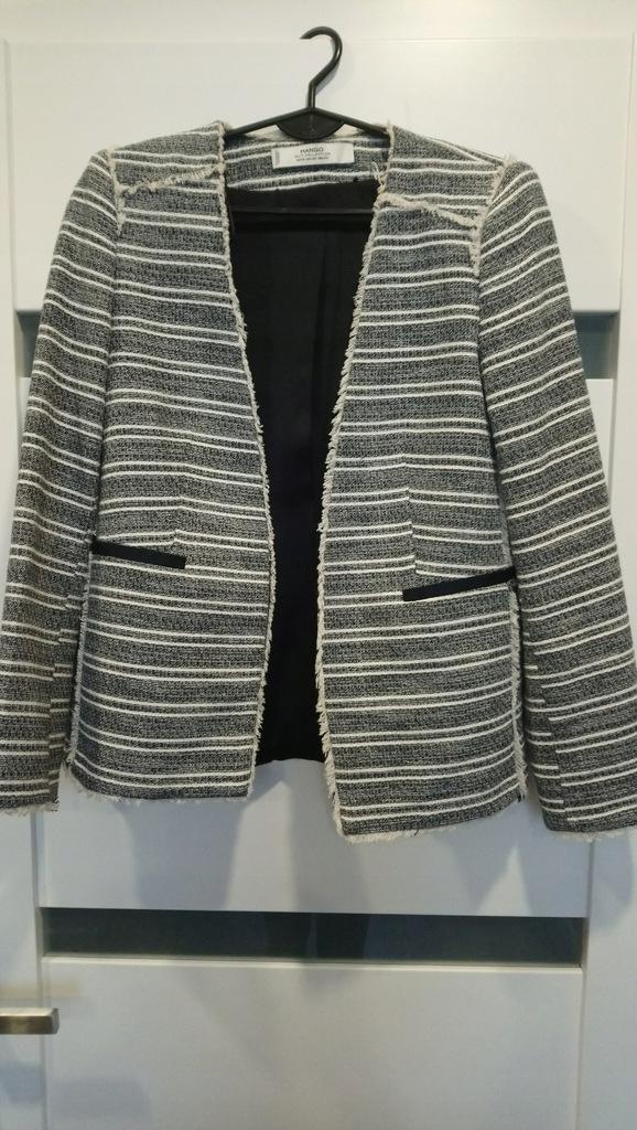 Żakiet Mango XS z tweedu