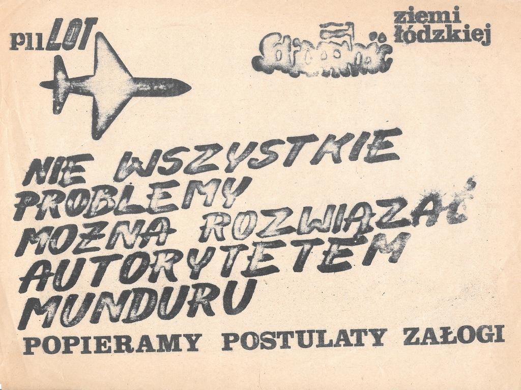 Solidarność, PLL LOT, Plakat, 1981