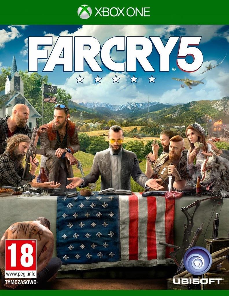 FARCRY FAR CRY 5 V PL XBOX ONE NOWA FOLIA