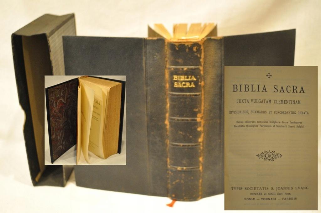 1927 BIBLIA SACRA JUXTA VULGATAM ELEMENTINAM /495