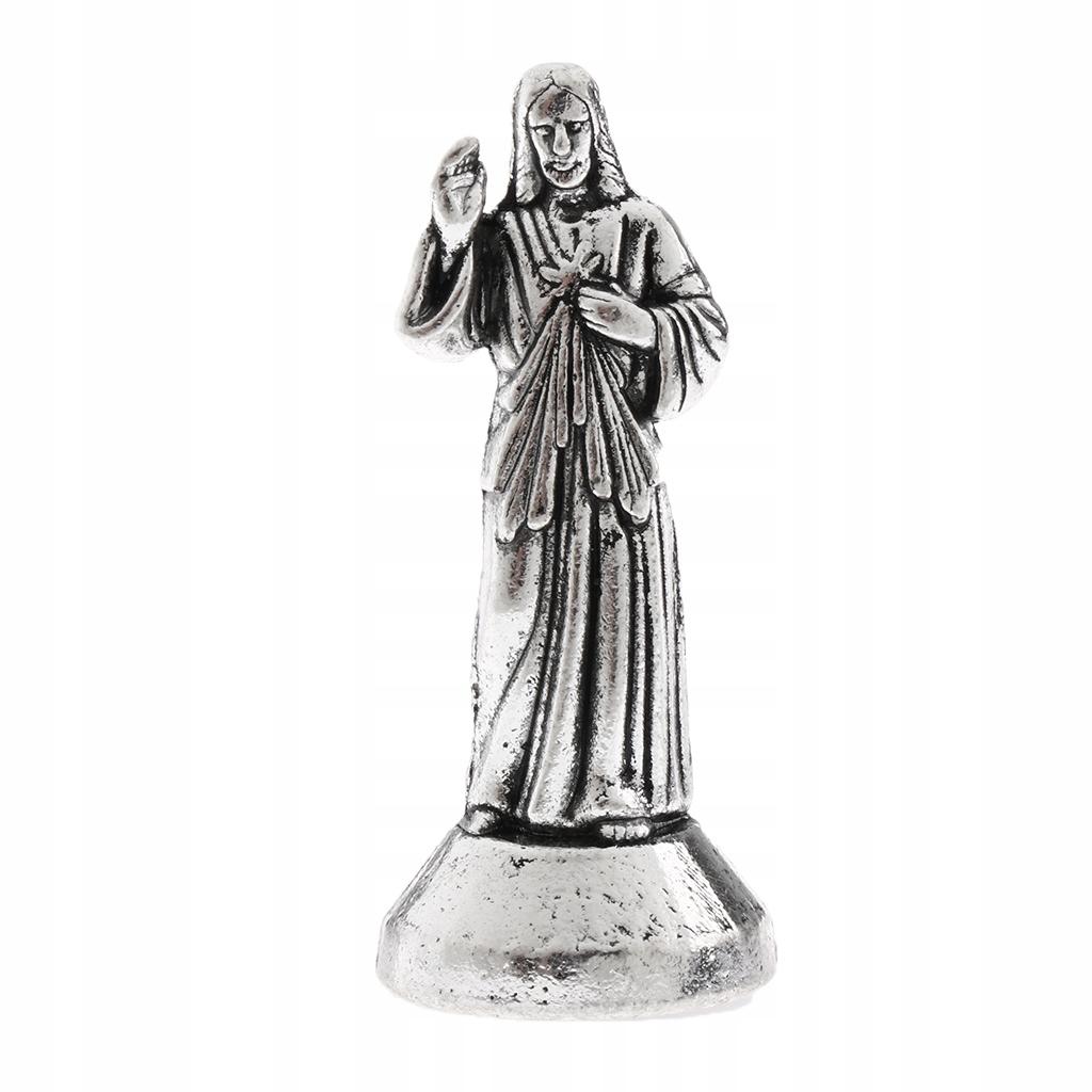 1 statua Jezusa - Srebrny 5cm