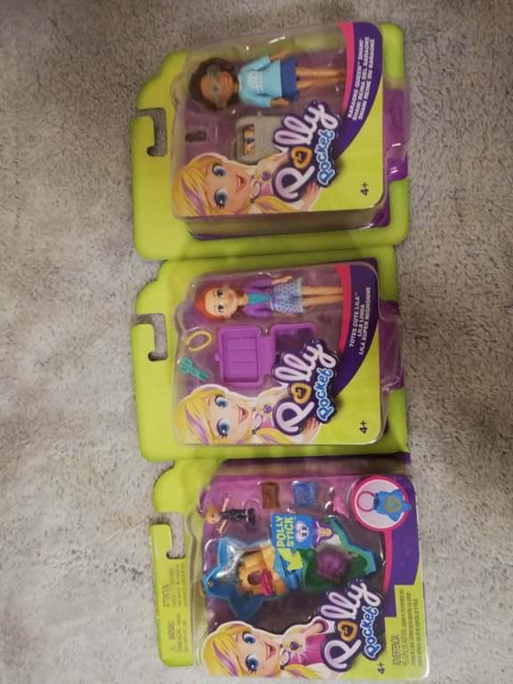 Lalka Polly Pocket , lalki 3szt w cenie 30zł