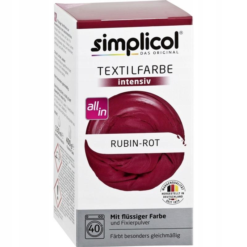 SIMPLICOL Barwnik do tkanin Rubinowo-Czerwony