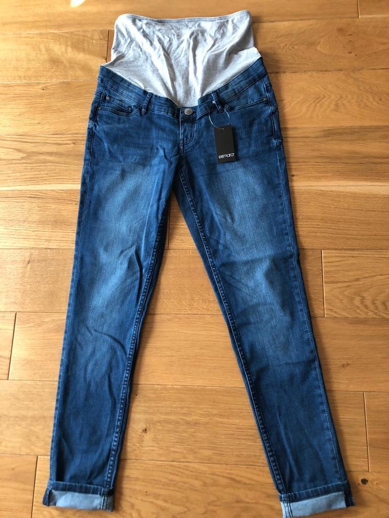 Nowe z metką niczym H&M jeansy ciążowe 38/M