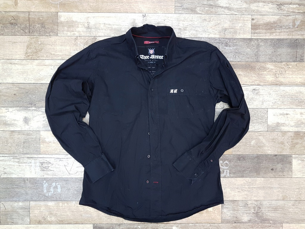 THOR STEINAR 44 czarna koszula męska casual M - 7788977557