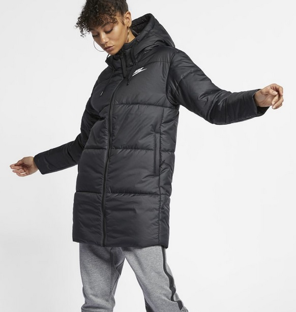 długa kurtka pikowana nike