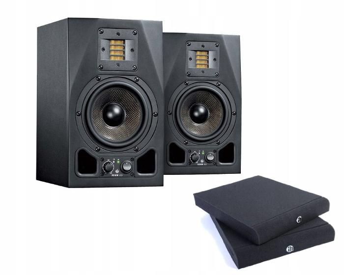Adam A5X Pair - Para monitorów studyjnych z podkła