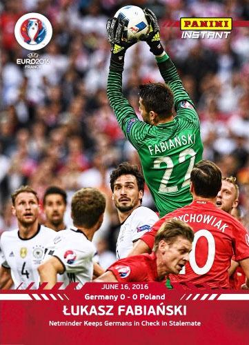 EURO 2016 Poland - Deutschland FABIAŃSKI karta