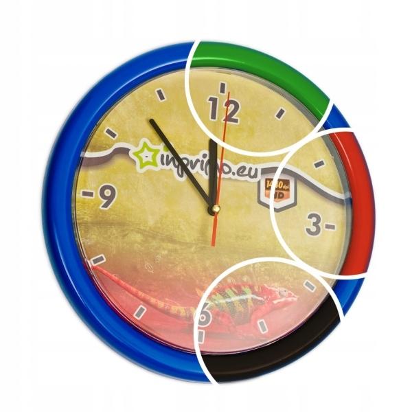 Zegar ZEGARY plastikowy reklamowy Z LOGO 5 szt