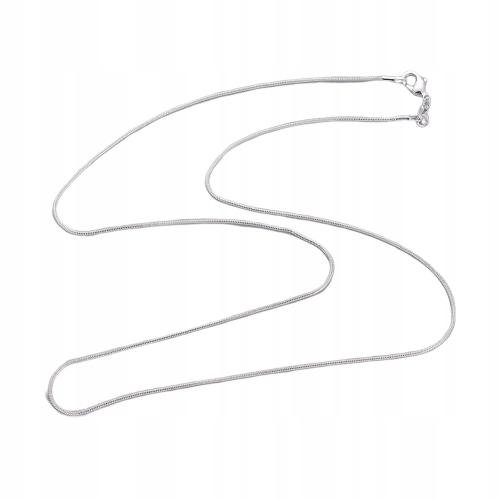 Lan110 Łańcuszek żmijka stal nierdzewna 60cm