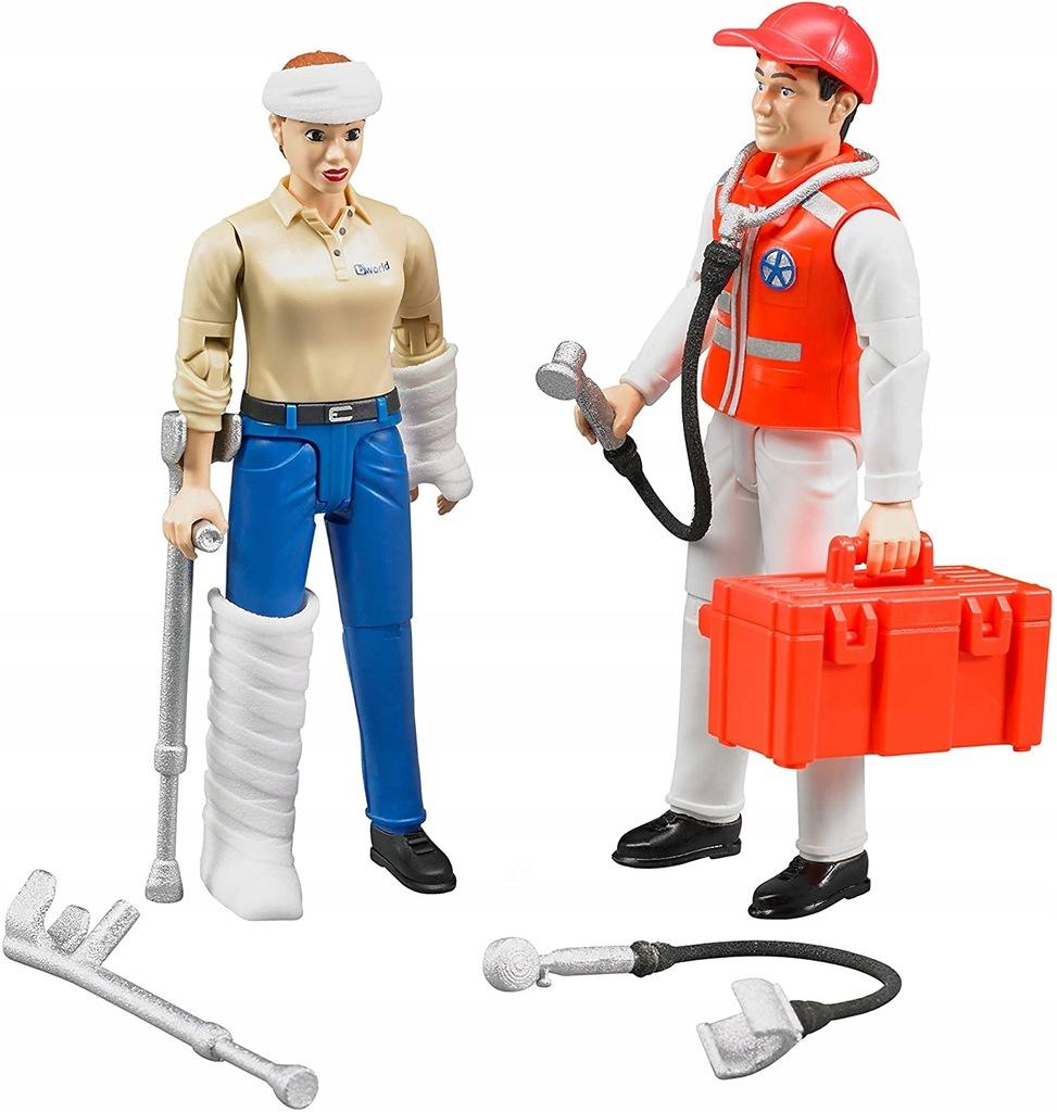 Bruder 62710 figurki ratownik i pacjentka/braki