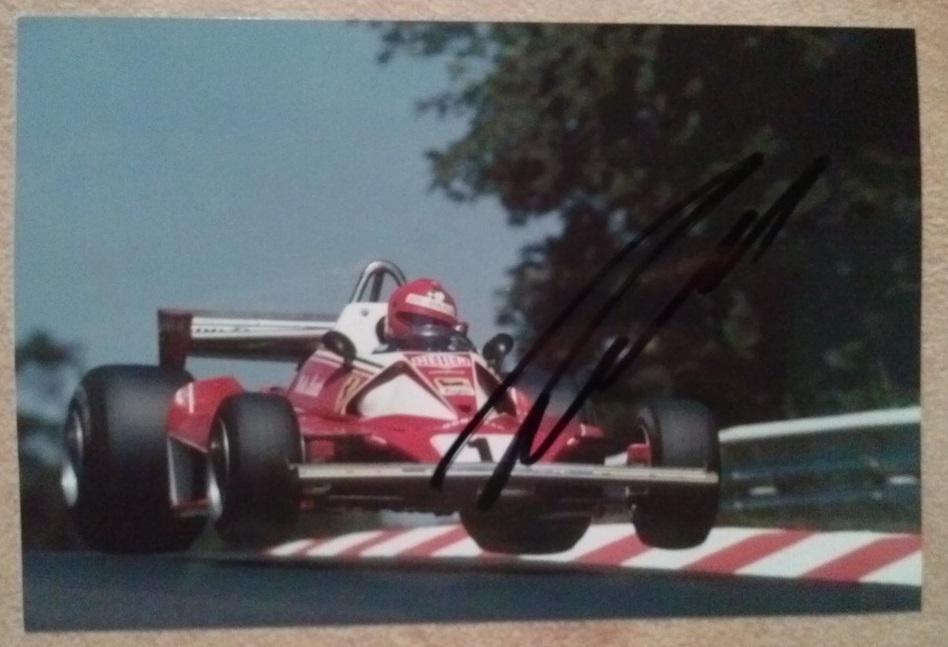 Niki Lauda - Oryginalny Unikatowy Autograf