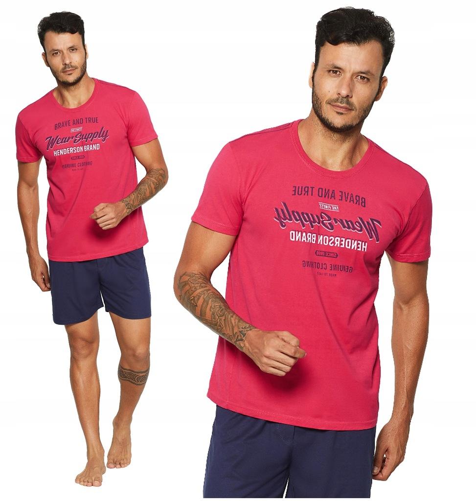 piżama męska HENDERSON 37841 RAZOR krótka - XL