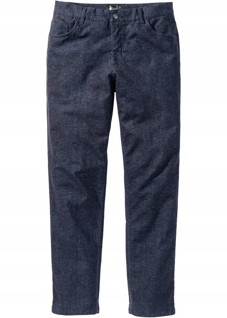 E281 Spodnie termiczne Regular Fit duży rozmiar 64