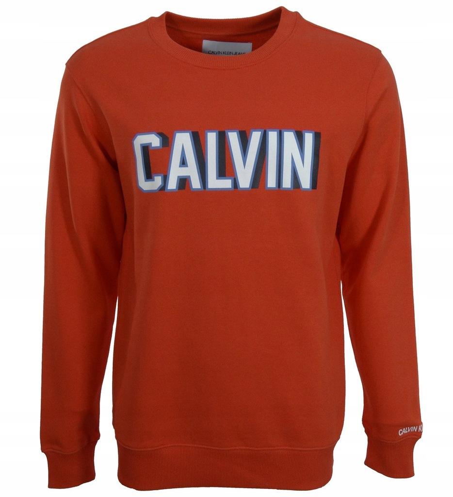 CALVIN KLEIN JEANS bluza męska, czerwona L