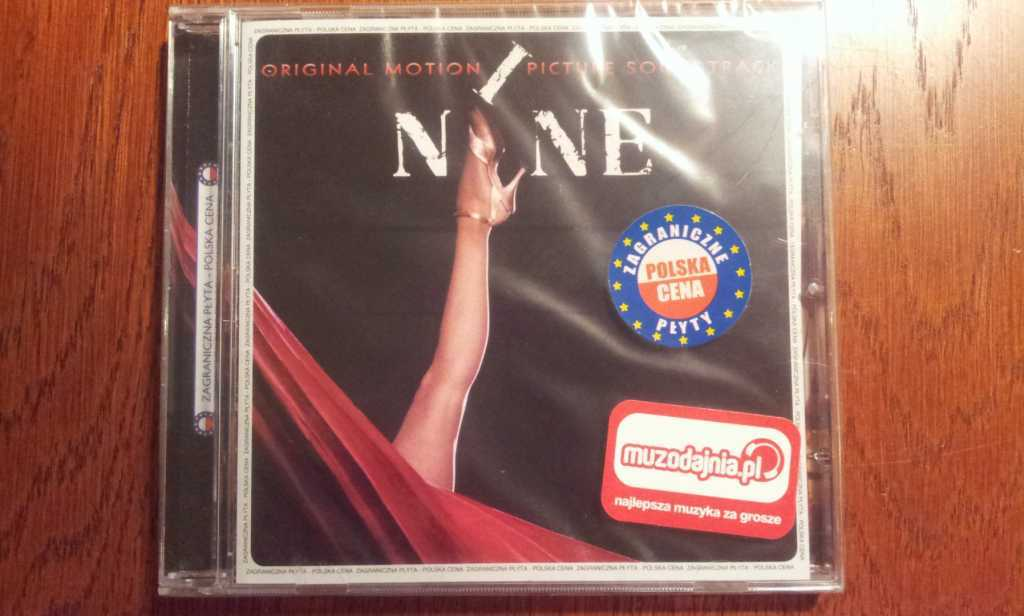 "CD Soundtrack film ""Nine"" Nowa. Folia."
