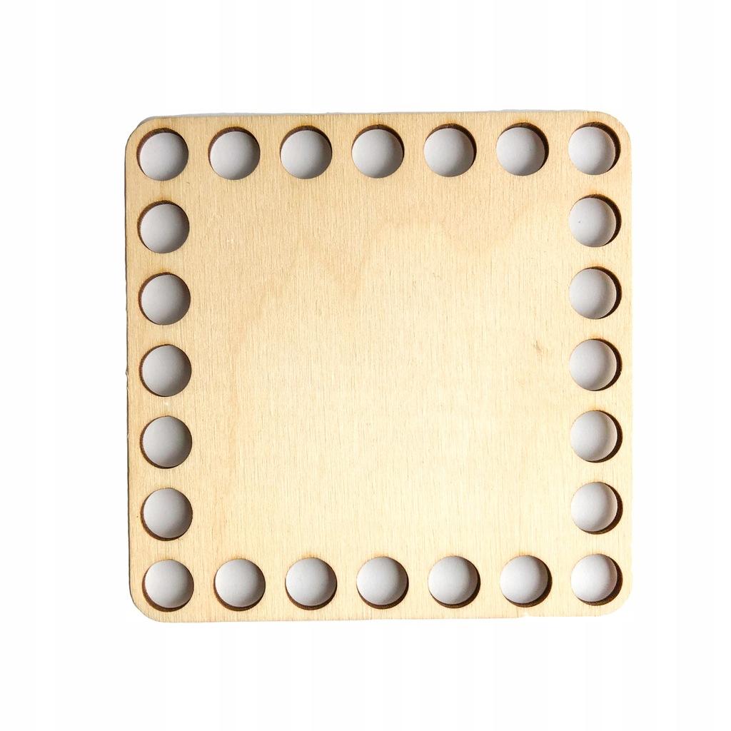 Baza ze sklejki denko do koszyków kwadrat 10cm