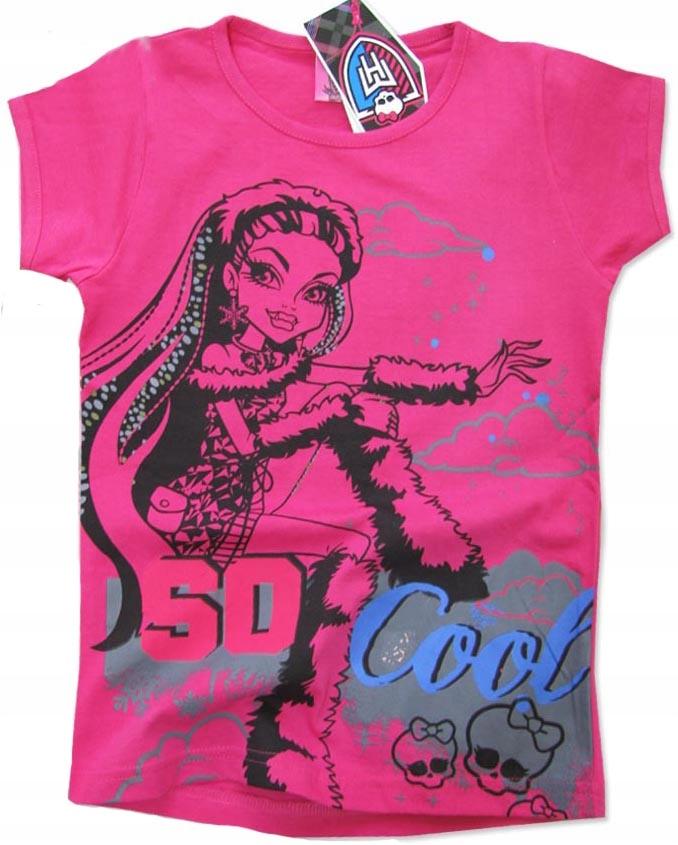 152 Bluzka T-shirt MONSTER HIGH róż A283