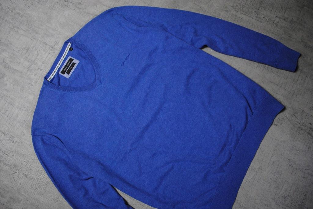 MARC O`POLO__niebieski sweter__logo__XXL_