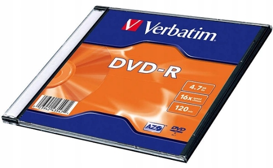 Płyta Verbatim DVD-R slim case pudełko 4,7GB 16x