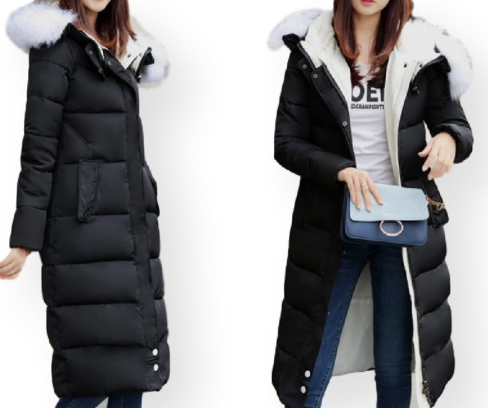 2019 zimowy długi płaszcz damski płaszcz pikowany damski