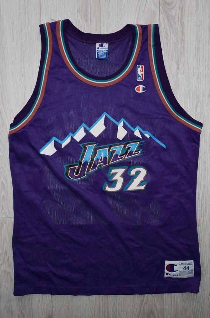Champion Jazz 32 Malone mega stan NBA jersey